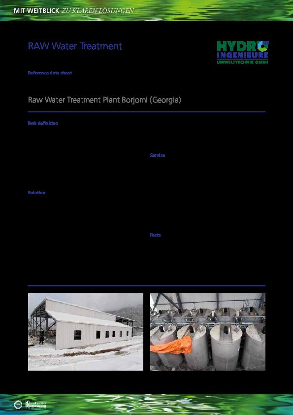 PDF) MIT WEITBLICK ZU KLAREN LÖSUNGEN RAW Water Treatment