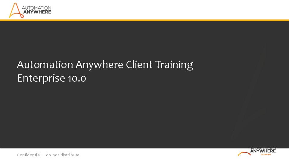 PDF) Automation Anywhere Training Deck | Bikram Bikram
