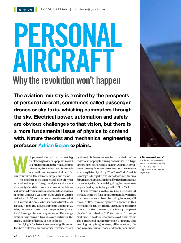 PDF) Personal Aircraft, why the revolution won't happen