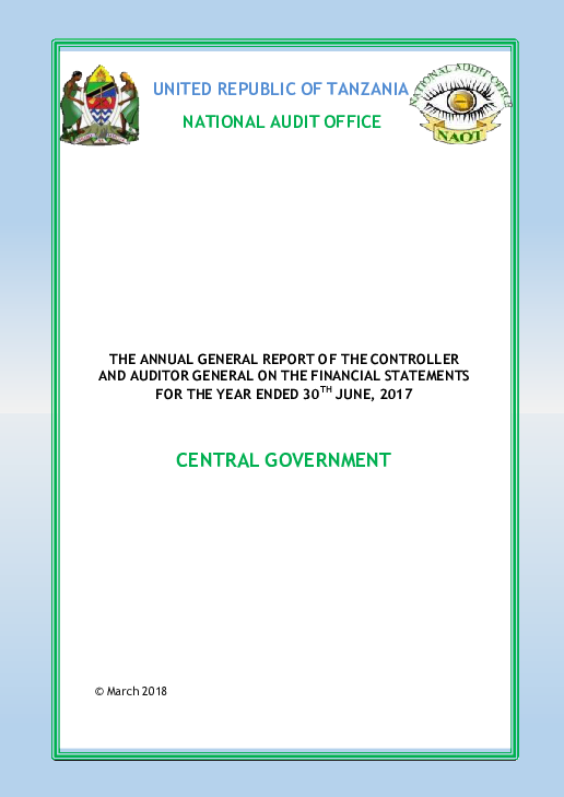 PDF) UNITED REPUBLIC OF TANZANIA NATIONAL AUDIT OFFICE THE