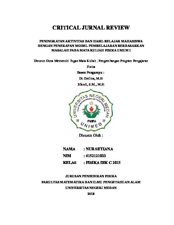 Doc Critical Jurnal Review Nur Setiana Academia Edu