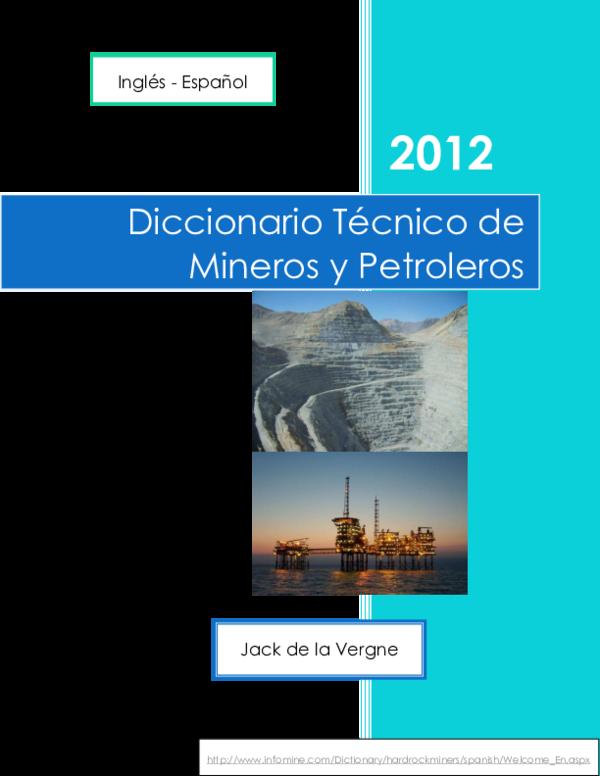 6f5a7e2e4afd3 PDF) Diccionariotecnicodeminerosypetroleros inglesaespanol