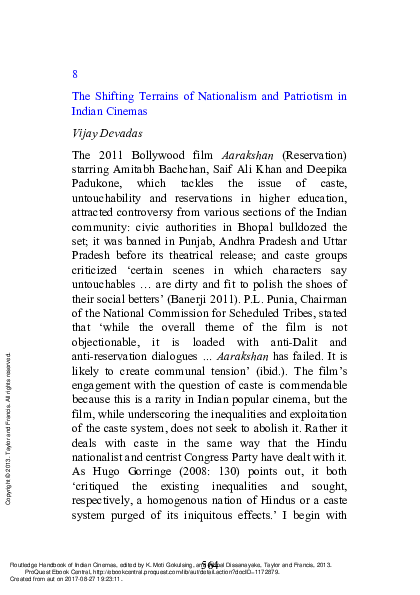 PDF) The Shifting Terrains of Nationalism and Patriotism in Indian
