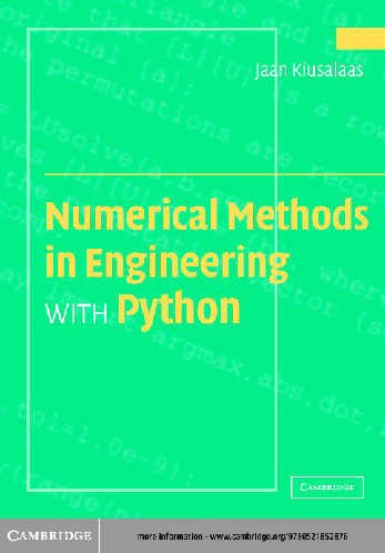 PDF) CUP, Numerical Methods in Engineering with Python (2005) TLF