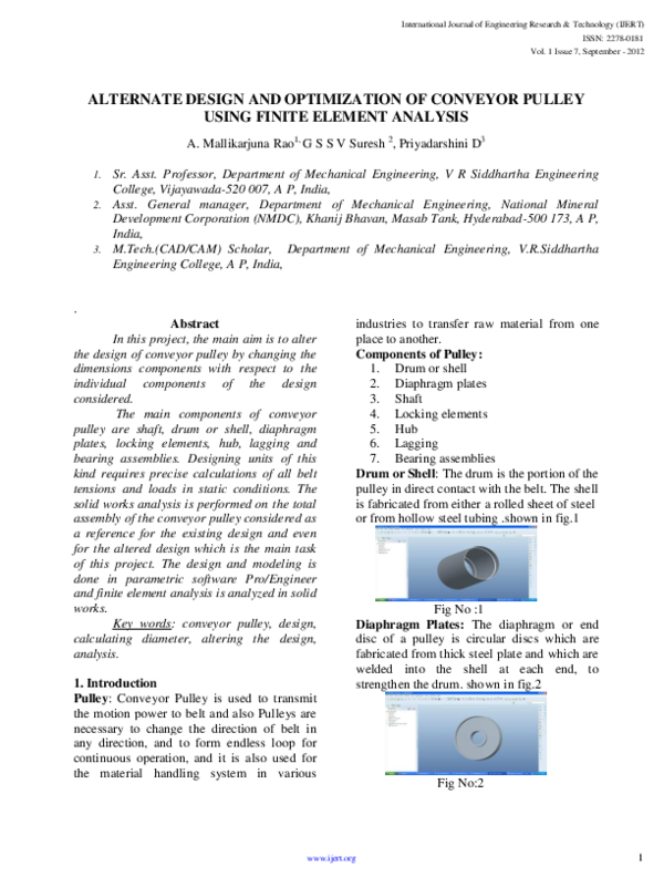 PDF) PULLEY_IJERTV1IS7487 pdf | Prabir Datta - Academia edu