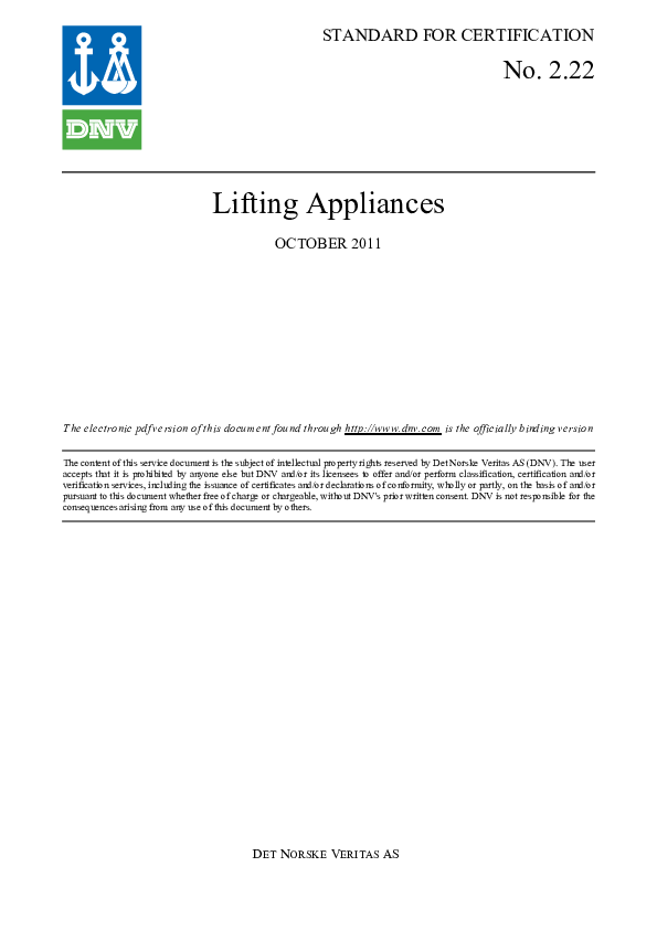 PDF) DNV_Standard2-22 - Copy - Copy (2) - Copy.pdf | Prabir Datta ...