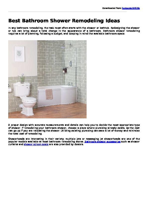 PDF) Best Bathroom Shower Remodeling Ideas | Paul Wenham