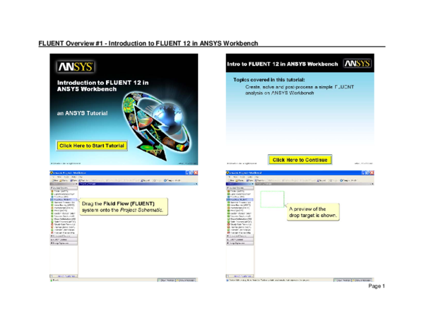 PDF) FLUENT Overview #1 -Introduction to FLUENT 12 in ANSYS
