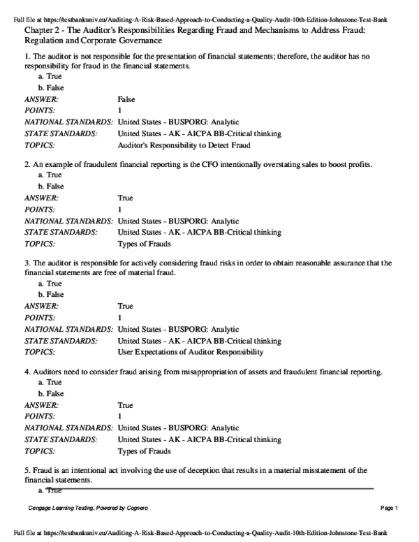 PDF) Chapter 2 -The Auditor's Responsibilities Regarding