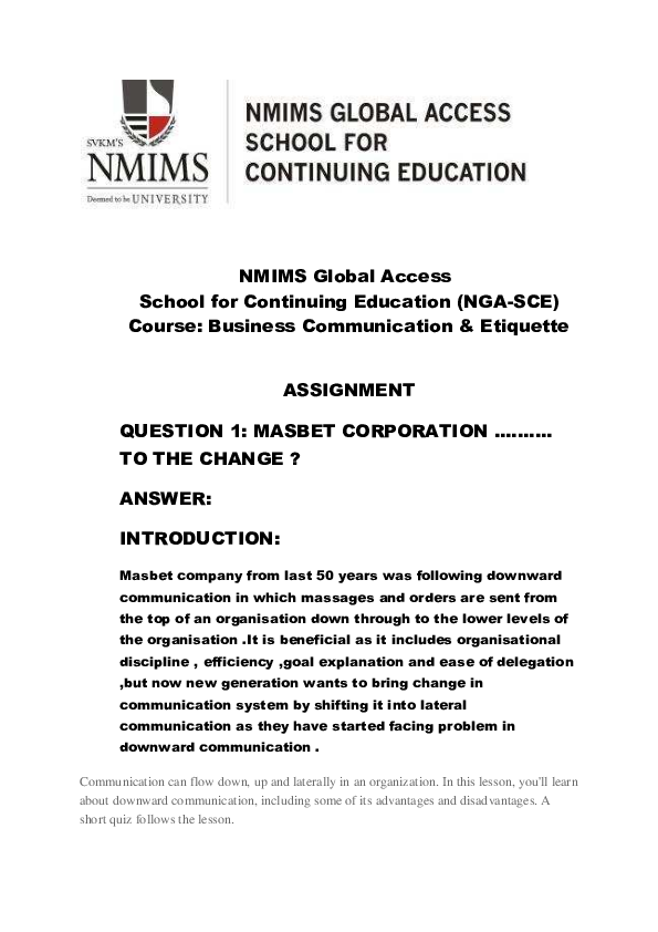 PDF) NMIMS Global Access School for Continuing Education (NGA-SCE