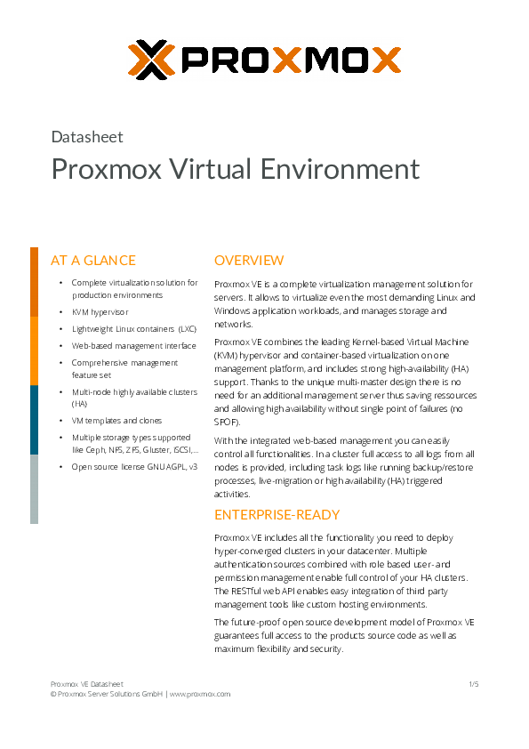 PDF) Proxmox Virtual Environment | angelicam dibur
