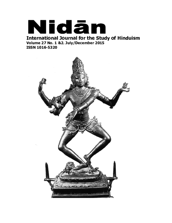 (PDF) International Journal for the Study of Hinduism