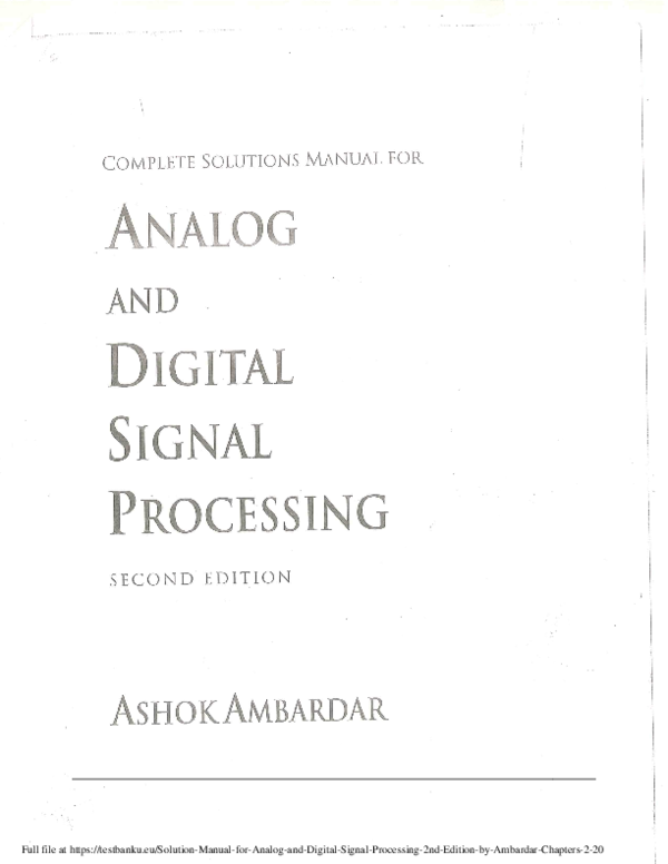 Solution-Manual-for-Analog-and-Digital-Signal-Processing