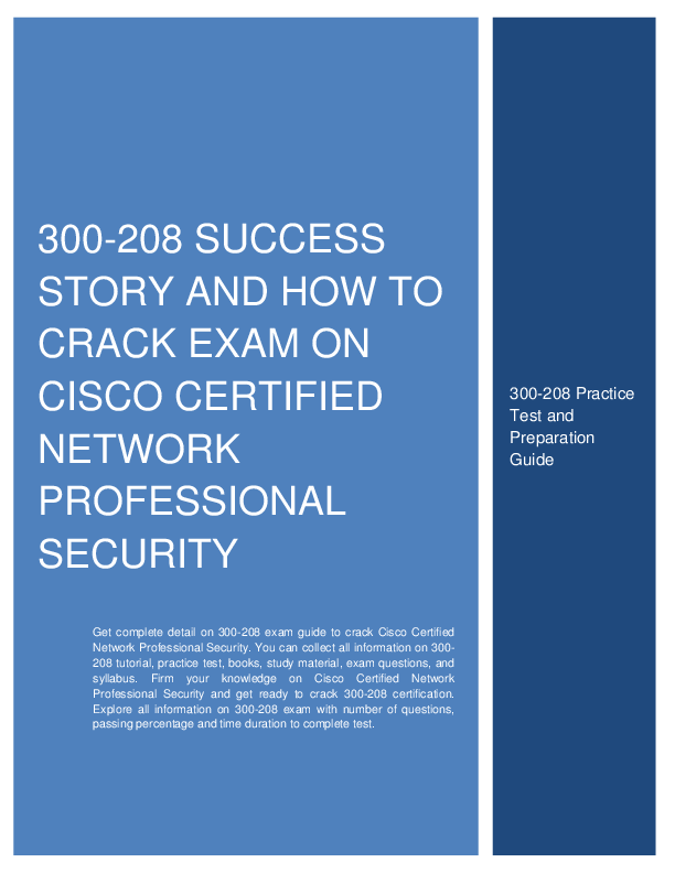 PDF) Enhance Your Career with CCNP Security (300-208