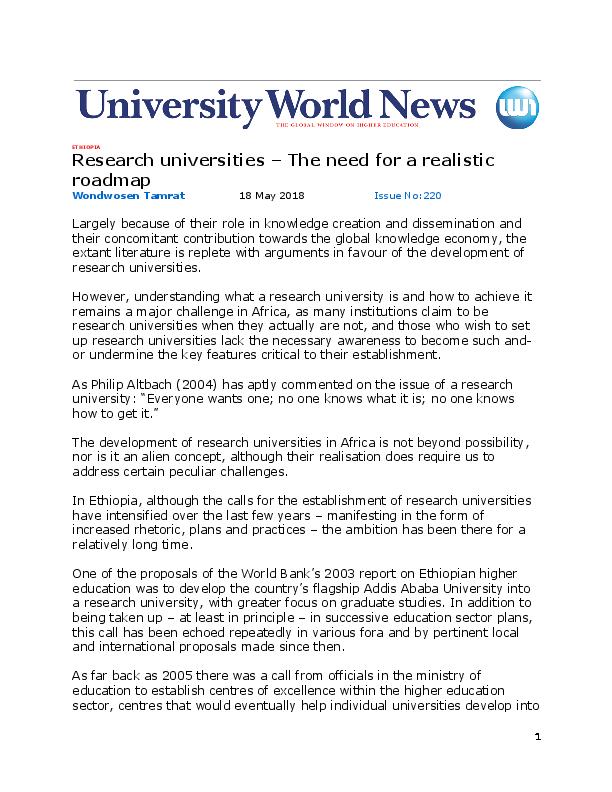 Research Proposal Addis Ababa University Pdf