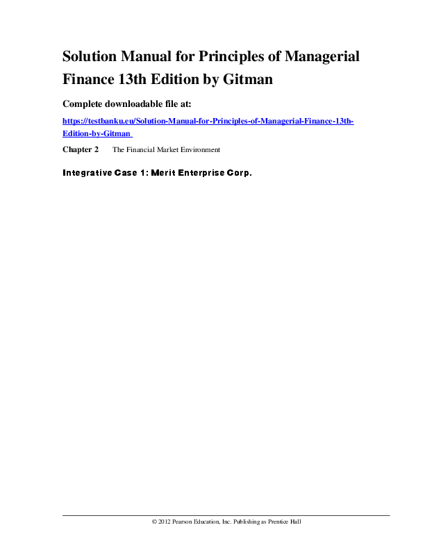 12th managerial pdf edition gitman finance