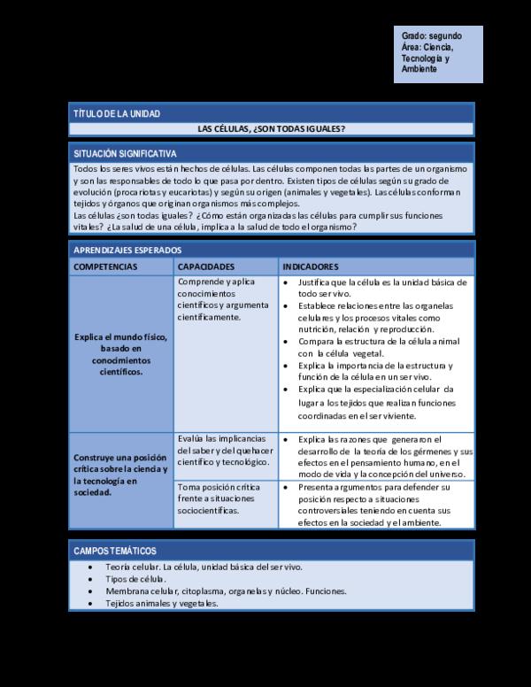 Doc Planificación De La Unidad Didáctica 1 Maritza Diaz
