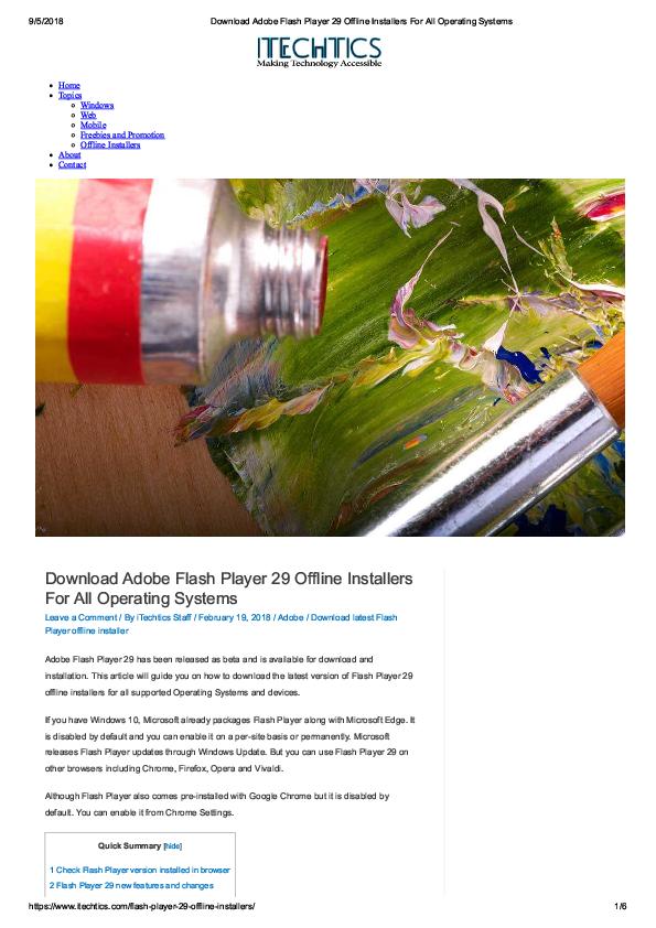 download adobe flash player free offline