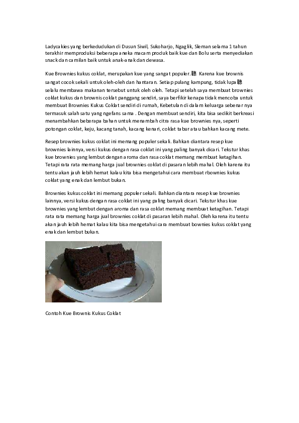 Cara Membuat Kue Pdf