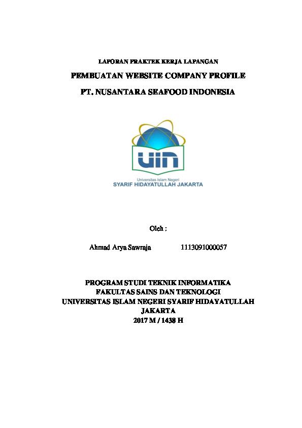 Pdf Pembuatan Website Company Profile Pt Nusantara Seafood Indonesia Ahmad Arya Academia Edu