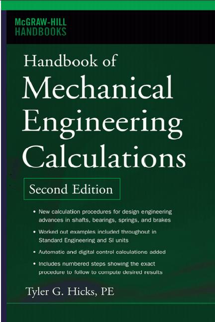 PDF) Handbook of Mechanical Engineering calculation Second Edition ...