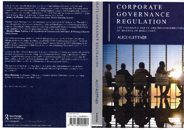 PDF) Corporate Governance Regulation, Chapter 1 Introduction