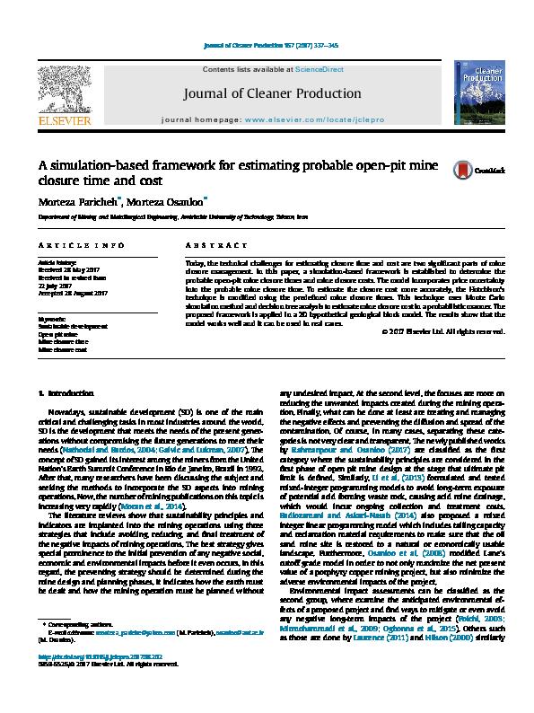PDF) A simulation-based framework for estimating probable