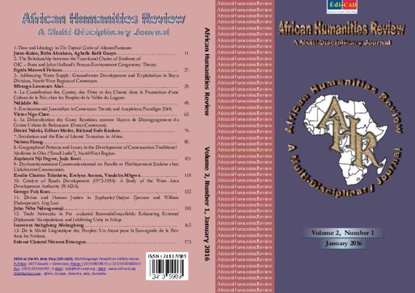 PDF) AHR-2016.pdf | Zephania Fogwe - Academia.edu