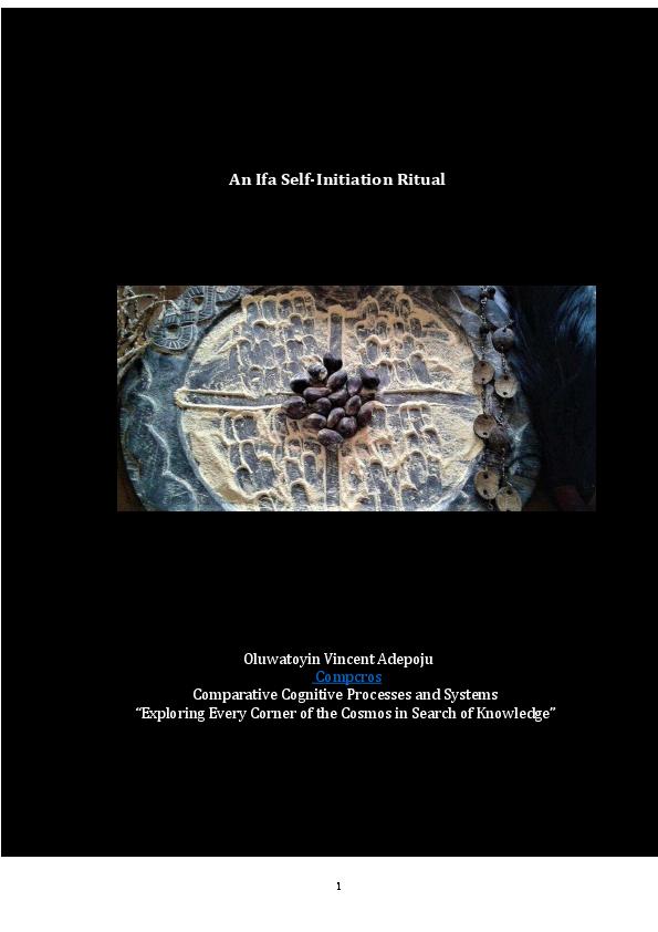 PDF) An Ifa Self-Initiation Ritual | Oluwatoyin Adepoju