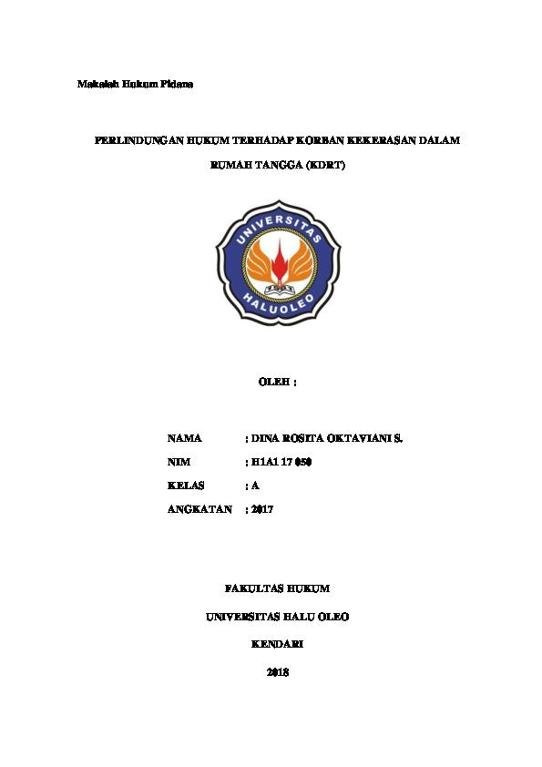 Doc Makalah Hukum Pidana Dina Oktaviani Academia Edu