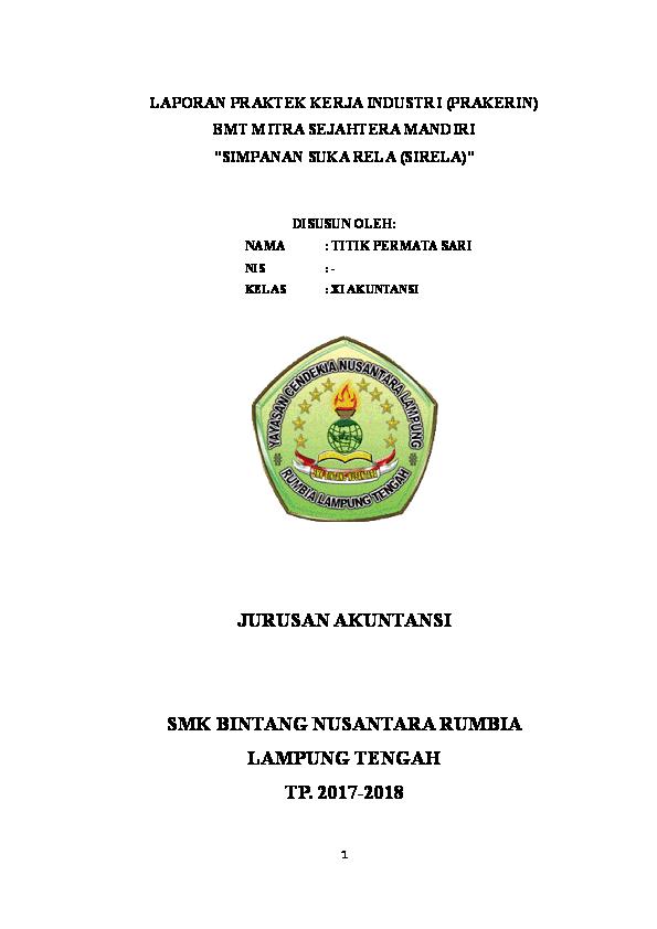 Doc Contoh Laporan Praktek Kerja Industri Prakerin Bmt Mitra Sejahtera Mandiri Simpanan Suka Rela Sirela Rahmat Hidayat Academia Edu