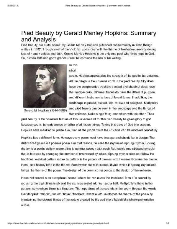 pied beauty pdf