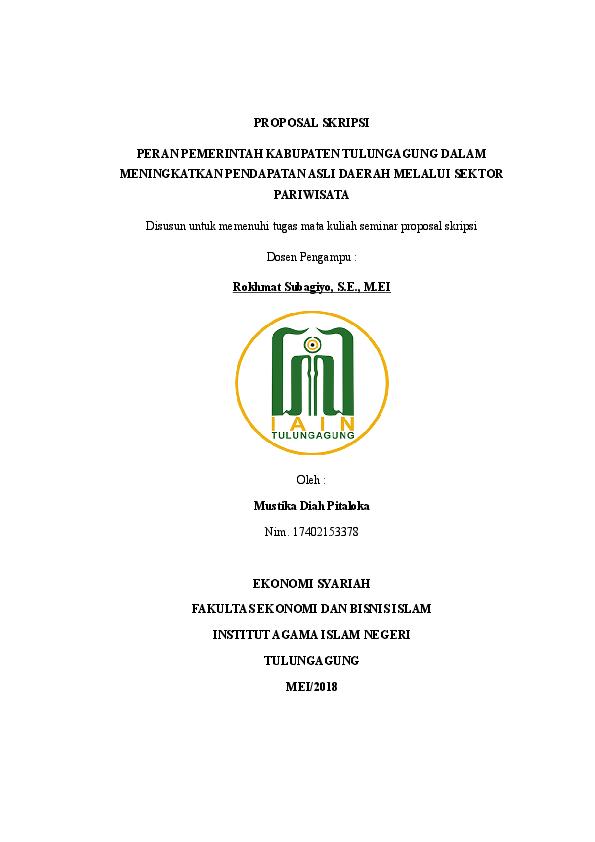 Doc Seminar Proposal Skripsi Mustika Diah Pitaloka Pita Loka And Rokhmat Subagiyo Academia Edu