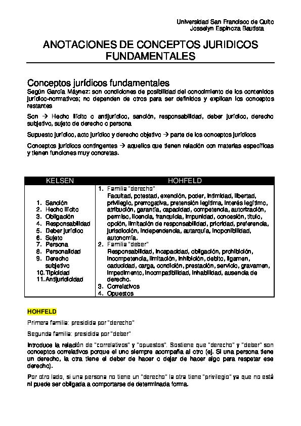 dbc092330f67 PDF) Conceptos Juridicos Fundamentales Sujetos del Derecho ...
