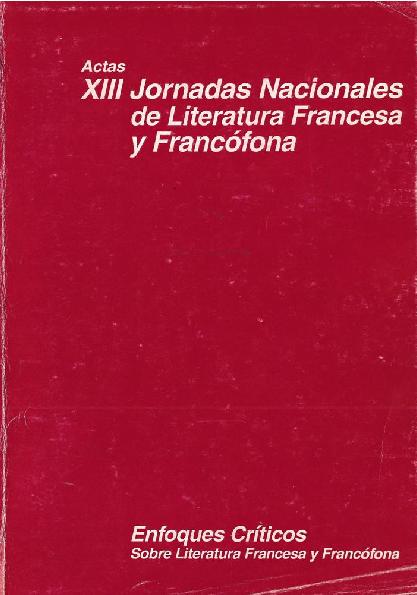 Pdf Actas De Las Xiii Jornadas Nacionales De Literatura