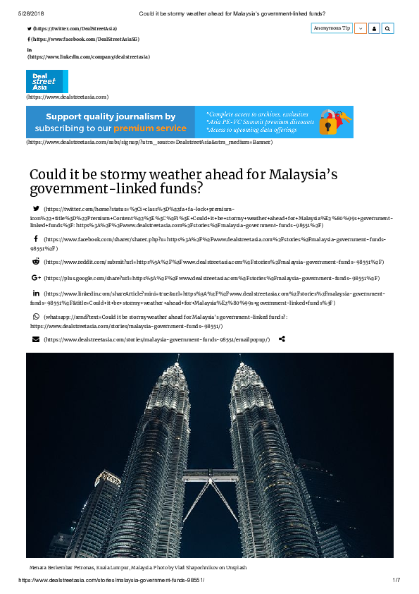 PDF) Could it be stormy weather ahead for Malaysia's