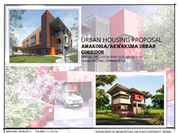 PPT) URBAN HOUSING | asikaogu adaugo - Academia edu