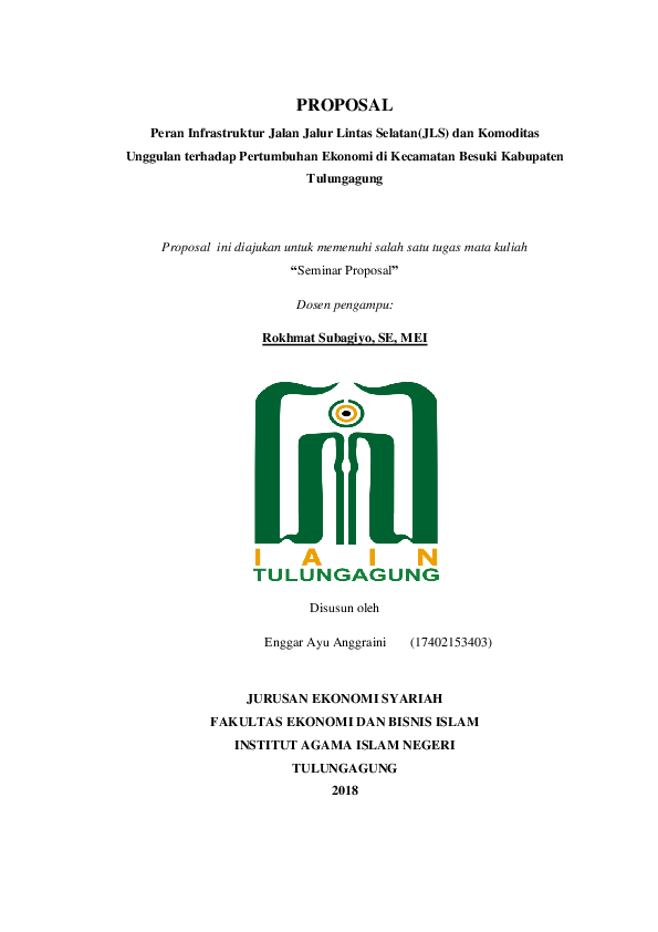 Iain Tulungagung Fakultas Ekonomi Dan Bisnis Islam Academia Edu