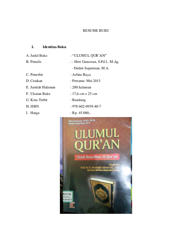 Pengertian Ulumul Quran Pdf