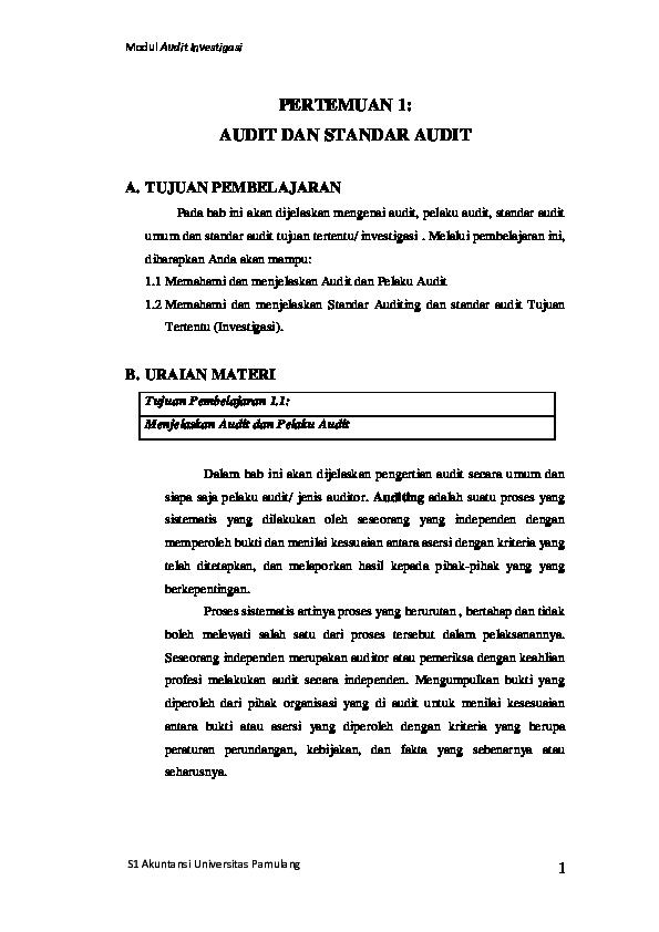 Pdf Modul Audit Investigasi Dika Juno Academia Edu