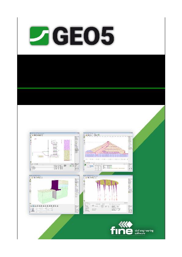 PDF) User's Guide Edition 2018 GEO5 – User's Guide   Agnes