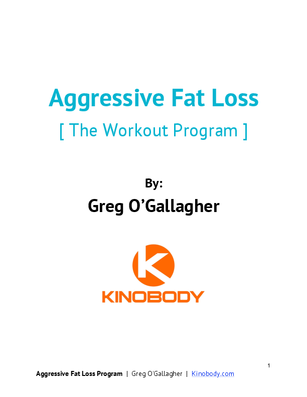 Pdf Aggressive Fat Loss The Workout Program Sam Reall