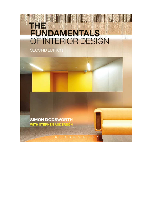 Pdf The Fundamentals Of Interior Design Trung Hoang Academia Edu