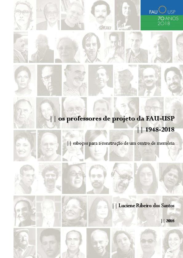 62ba26e1e17 Os professores de projeto da FAU-USP (1948-2018)  esboços para a ...