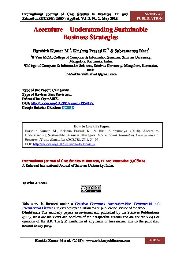 PDF) Accenture – Understanding Sustainable Business Strategies