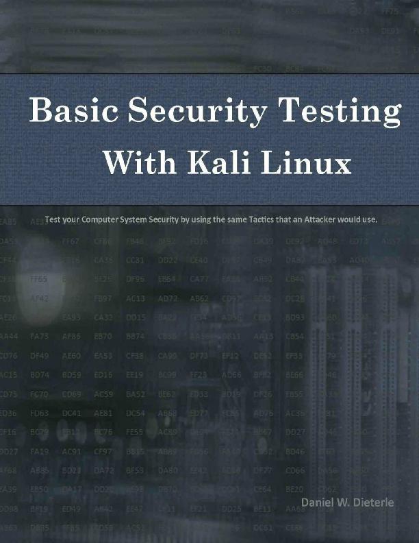 PDF) Basic Security Testing with Kali Linux pdf | Muhammad Andyk