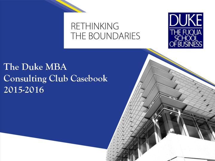 PDF) The Duke MBA Consulting Club Casebook | Eleanore Jiang