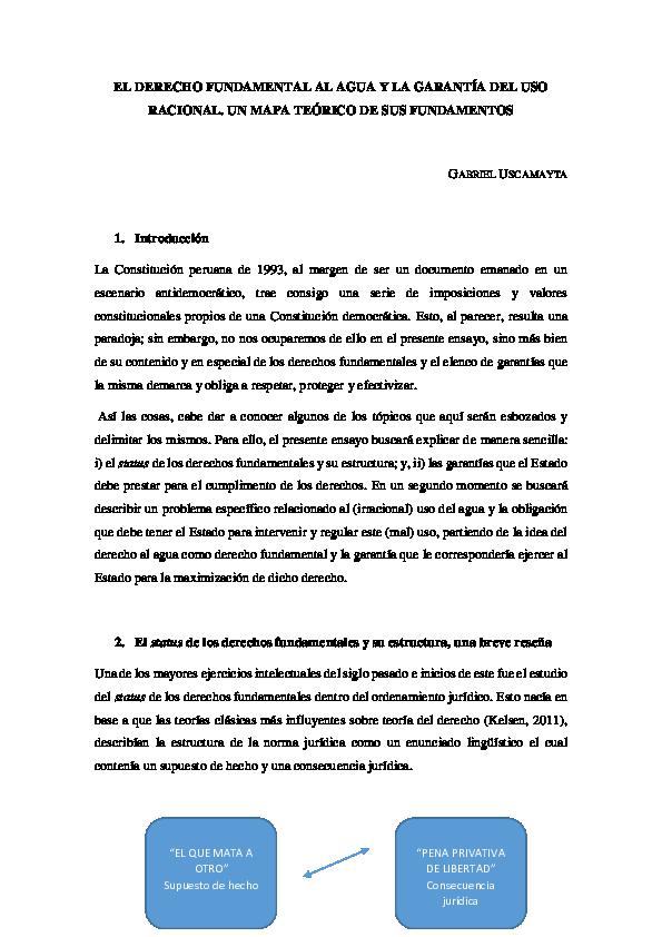 Doc El Derecho Fundamental Al Agua Y La Garantía Del Uso