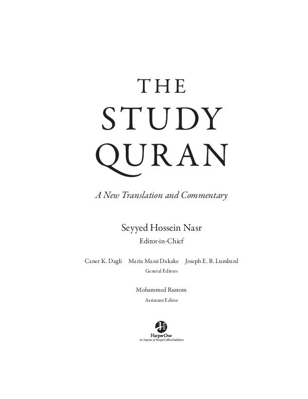 PDF) How to Read the Quran | Ingrid Mattson - Academia edu