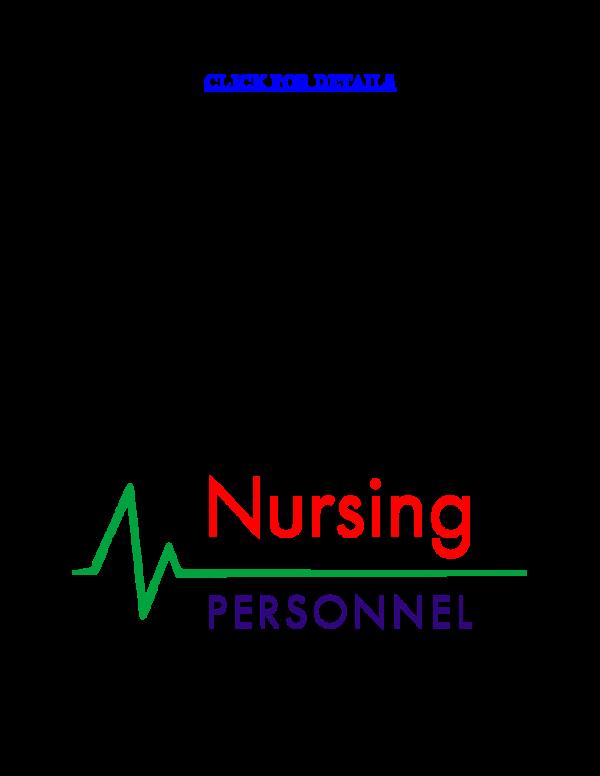 DOC) NRS 410V - Pathophysiology and Nursing Management of